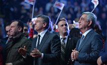 Վիգեն Սարգսյանը, Կարեն Կարապետյանն ու Սերժ Սարգսյանը