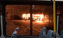 Հրդեհվող ավտոբուսը