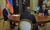 Երեք երկրների նախագահների՝ Վլադիմիր Պուտինի, Սերժ Սարգսյանի, Իլհամ Ալիևի եռակողմ հանդիպումը