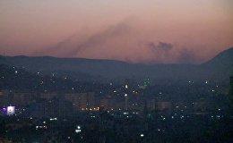 Սիրիայի մայրաքաղաքի հրթիռակոծությունը. կադրեր դեպքի վայրից