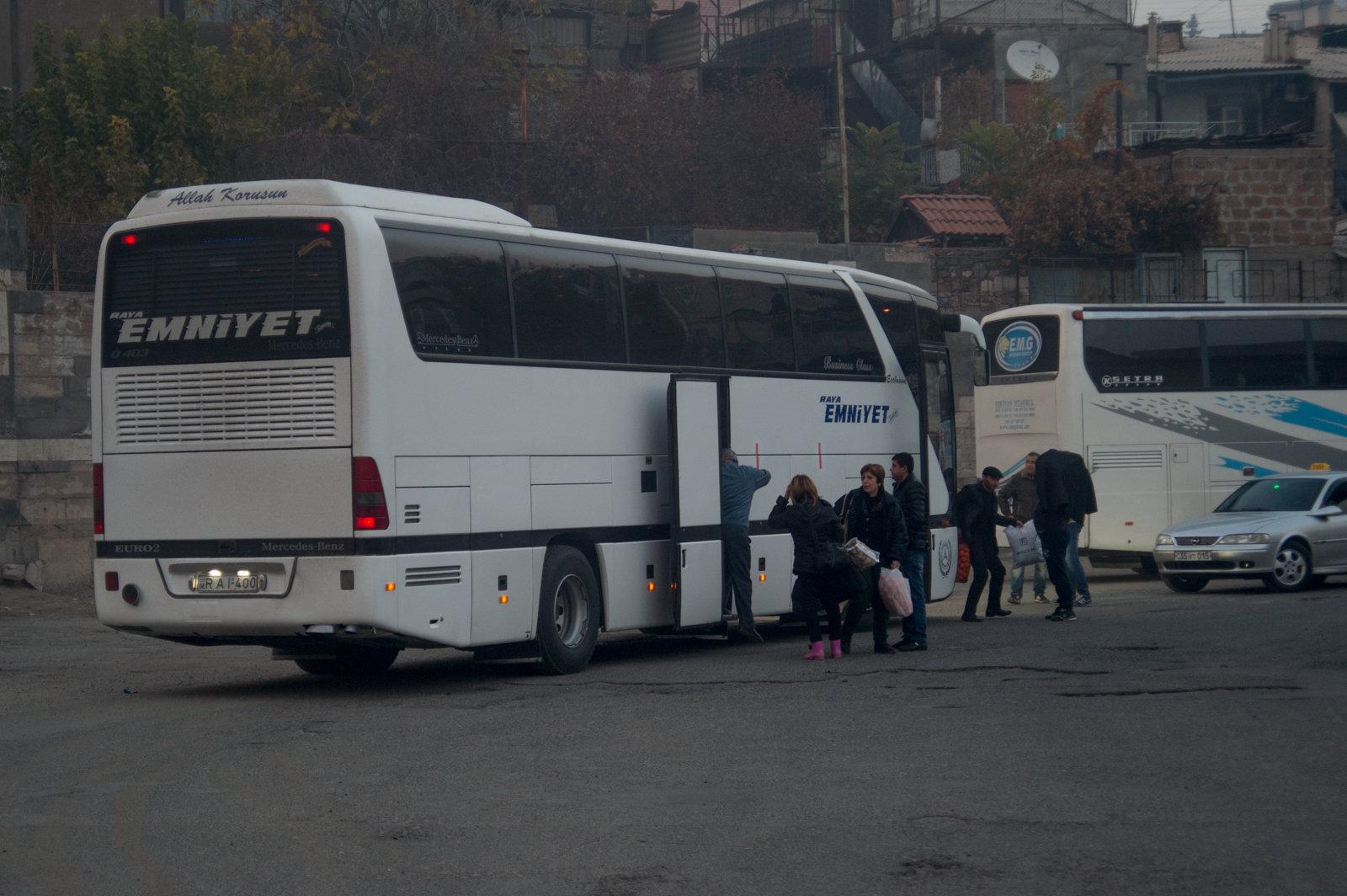 Рейсовый автобус в Армению