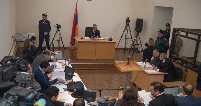 Заседание по делу об убийстве семьи Аветисян российским военнослужащим Валерием Пермяковым