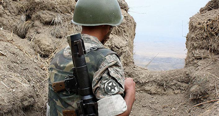 армия оборона Карабах граница военнослужащий НКР