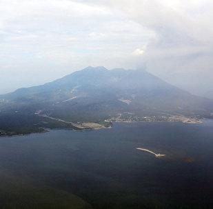 Вулкан Сакурадзима в Японии