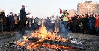 Հայերը կրակներ են վառել.հայ ժողովուրդը նշում է Տեառնընդառաջը