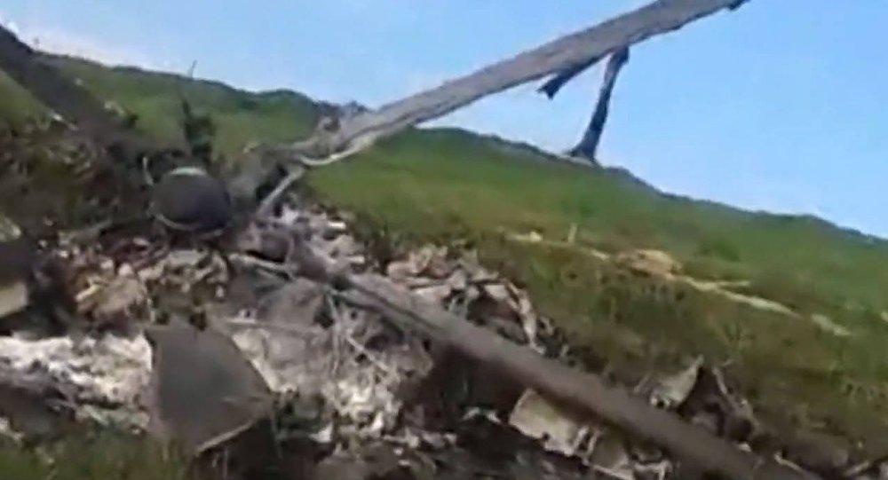 Сбитый азербайджанский вертолет МИ-24