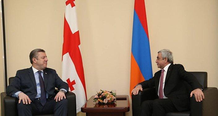 Գեորգի Կվիրիկաշվիլին և Սերժ Սարգսյանը