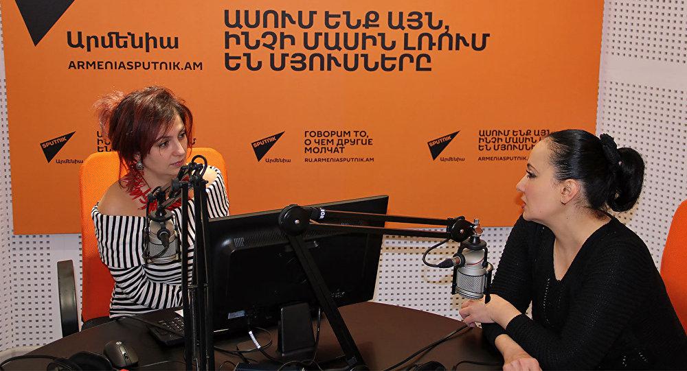 Асмик Абовян в гостях у радио Sputnik Армения