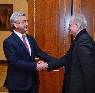Սերժ Սարգսյան և Միխայիլ Պիոտրովսկի