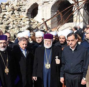 Հալեպի եկեղեցիներն ավետեցին Արամ Ա վեհափառի այցելությունը