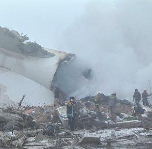 Առաջին կադրերը Բիշքեկի մոտակայքում թուրքական Boeing 747-ի կործանման վայրից