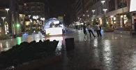 Հայկական պար՝ Երևանի տեղատարափ անձրևի տակ