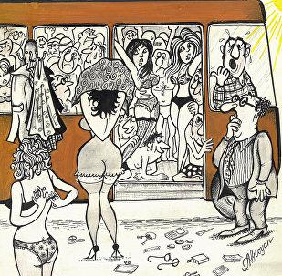 Карикатура. Стриптиз