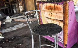 Пожар в кафе Старый Эривань