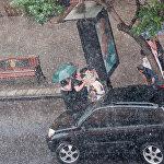 Հորդառատ անձրև` Երևանում