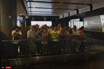 Աշխարհի եռակի չեմպիոն Արթուր Ալեքսանյանի դիմավորում են օդանավակայանում