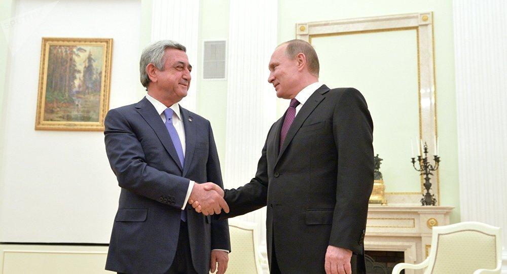Սերժ Սարգսյան, Վլադիմիր Պուտին