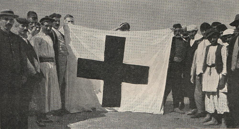Մուսա լեռան հերոսամարտի հաղթական դրոշը
