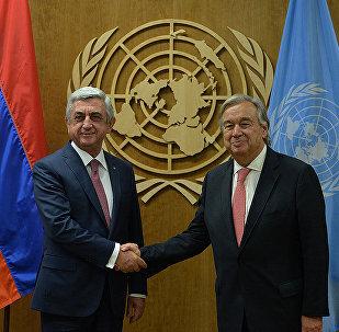 ՀՀ նախագահի և ՄԱԿ–ի Գլխավոր քարտուղարի հանդիպումը