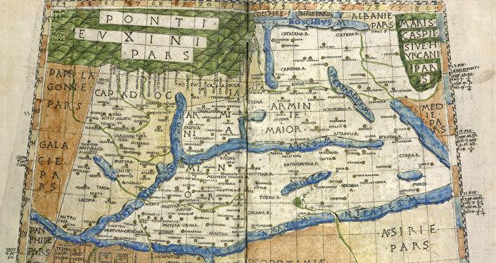 Պտղոմեոսի կազմած քարտեզը