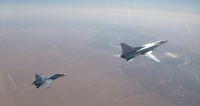 Tu-22M3 ռմբակոծիչների հերթական գործողությունը Սիրիայի գրոհայինների դիրքերի վրա